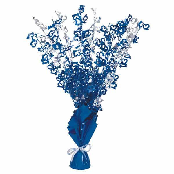 Edad 13 Azul Glitz Globo Peso Centro de Mesa - Unidad