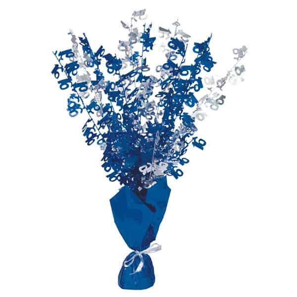 Edad 16 Azul Glitz Globo Peso Centro de Mesa - Unidad