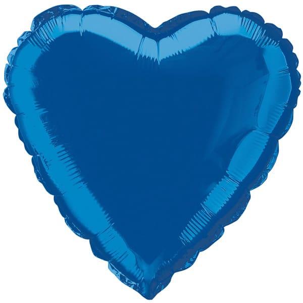 Globo Foil Corazón Azul 45 cm