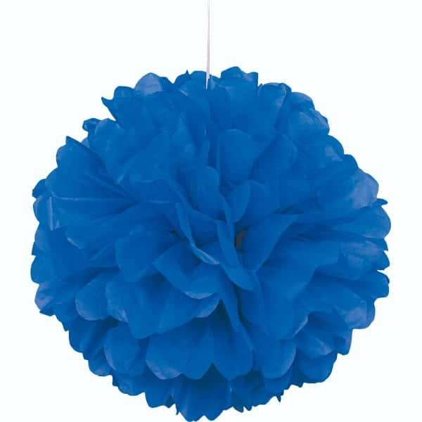 Azul Colgante Decorativo de Panal Bola de Puff