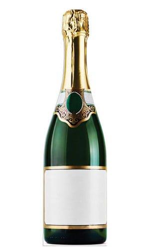 Botella de Champagne Figura de Cartón