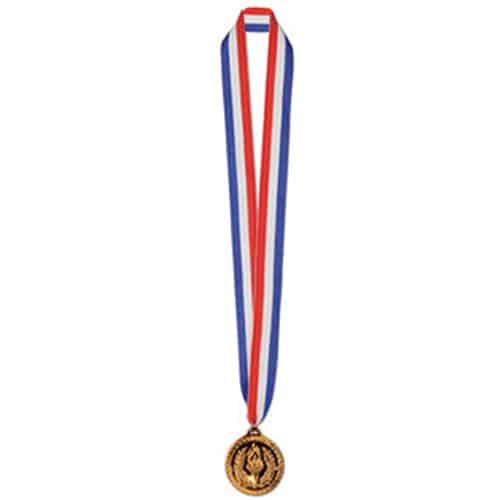 Medalla de Bronce en la Cinta 76cm de Largo - Pack de 12