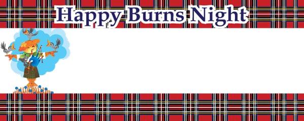 Noche de Burns Banderas Personalizadas