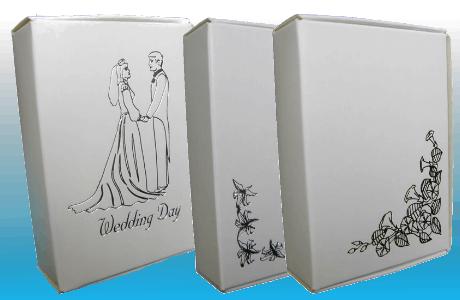 Cajas de pastel postales