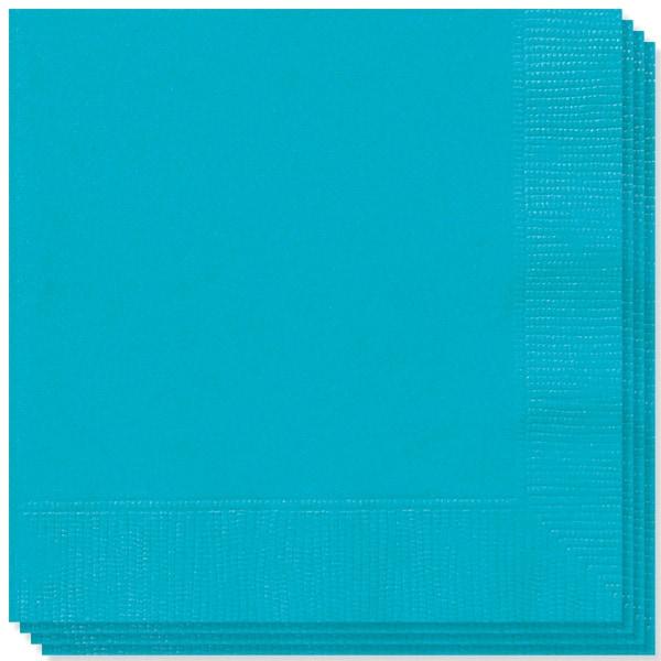 Servilletas Verde Azulado Caribeño 33cms 2 capas - Pack de 100