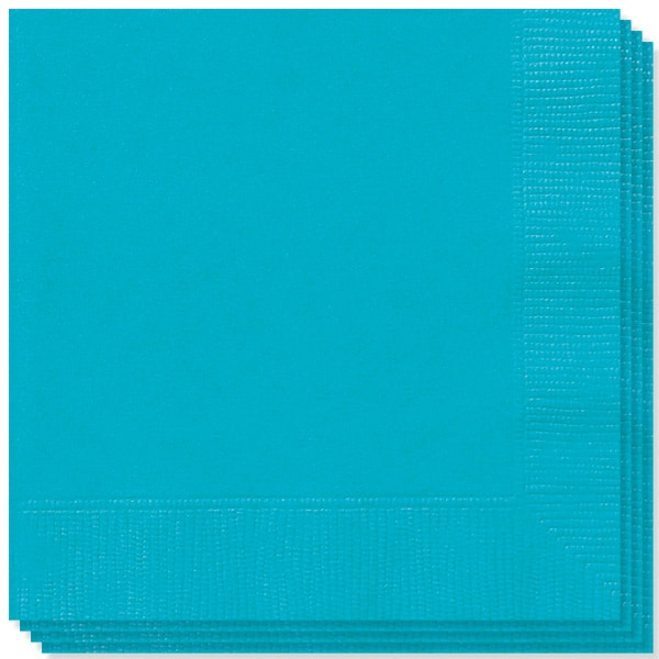 Servilletas Verde Azulado Caribeño - Paquete de 20