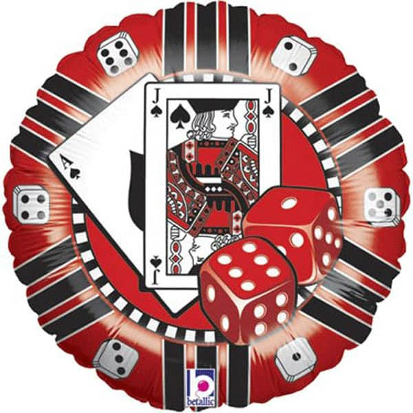 Ficha de Casino Globo de Foil 46 cm