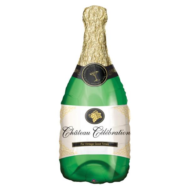 Botella De Champagne Globo De Aluminio Con Helio 91Cm / 36 In