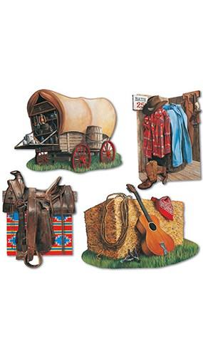 Figura de vaqueros - Paquete de 4