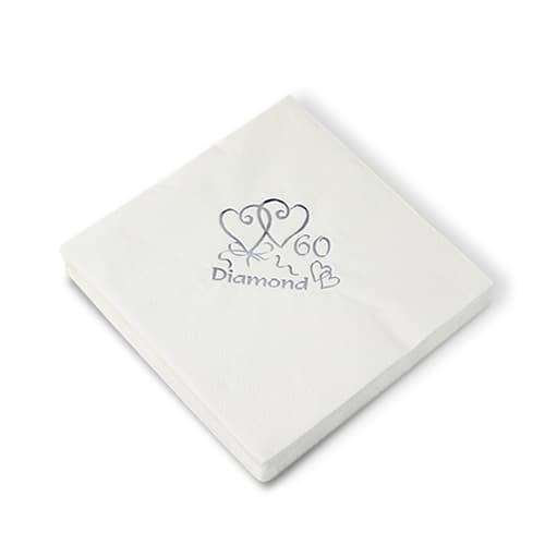 15 Servilletas Diamantes Aniversario 40cm 3 capas