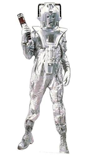 Clásico de Cyberman Earthshock Estilo Figura de cartón tamaño natural