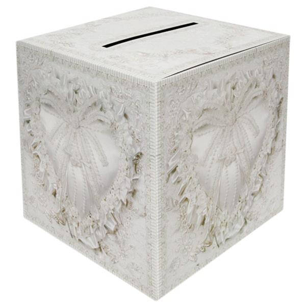 Diseño elegante Caja de Tarjeta de Boda 30 x 30 x 30 cm