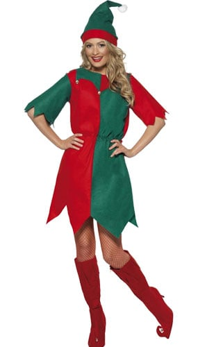 Elf Disfraz - Señoras Tamaño Pequeño - Disfraz