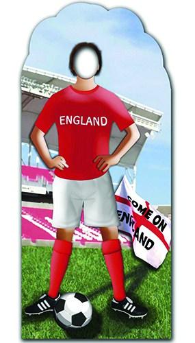 Inglaterra Futbolista Stand-en Figura de cartón a tamaño real Standee
