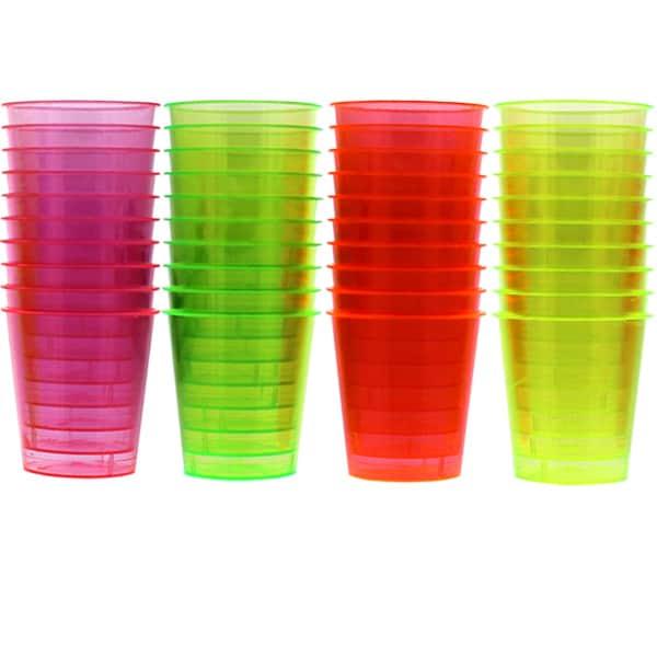 Esenciales Vasos de Tequilero Neón 3cl - Pack de 40