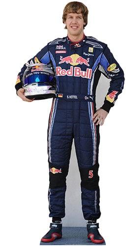 Sebastian Vettel Tamaño real Figura de cartón