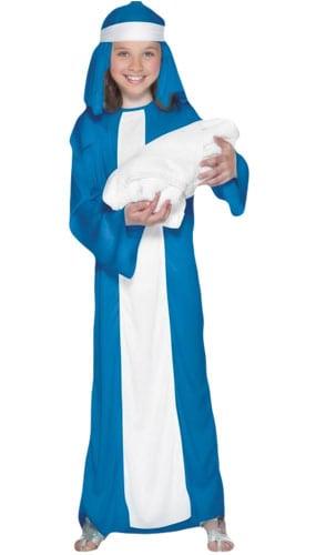 Disfraz De Mary Para Niña De 10 A 12 Años. Niños Disfrazados De Navidad. Grandes