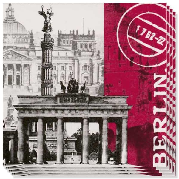 Global City Berlin - Servilletas 3 capas - 33cms - Pack de 20
