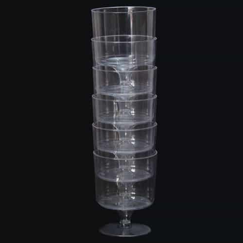 Plástico vidrios de vino - 6 oz / 170ml - Paquete de 6