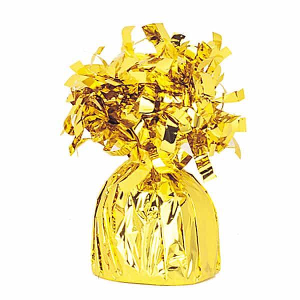 Peso para globos de foil dorado - Unidad