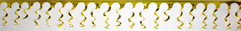 Guirnalda Espiral Dorada Foil - 549cm de Largo x 38cm de Alto - Unidad