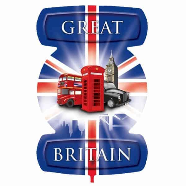 Gran Bretaña Tema Iconos De Londres Globo Gigante De Papel De Helio 61Cm / 24 In