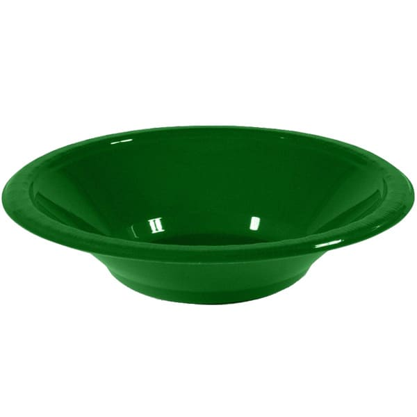 Cuencos De Plástico Verde 17Cm - Paquete De 20