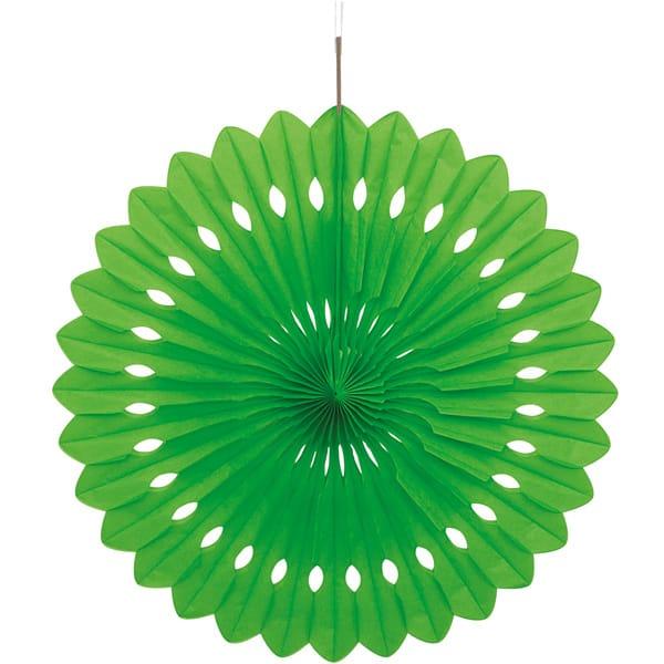 Abanico Verde Nido de Abeja Colgante Decorativo