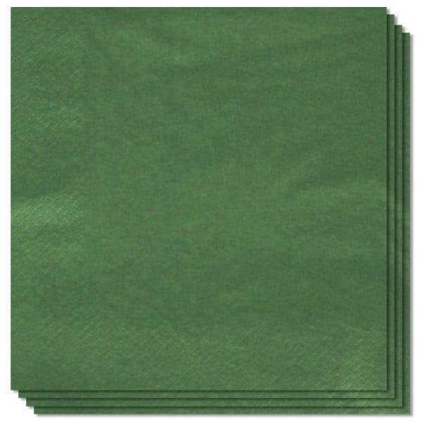 20 Servilletas Verdes 33cm 2 capas