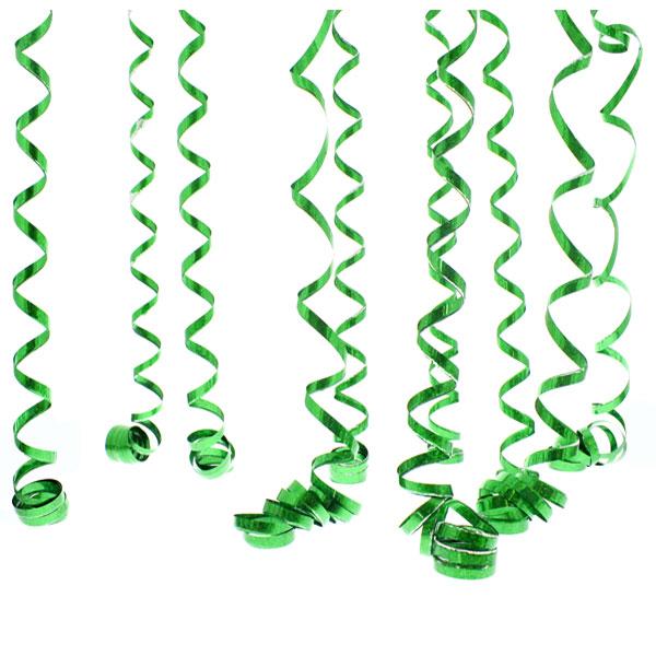 Serpentinas Prismáticas Verdes - 10 Lanzamientos