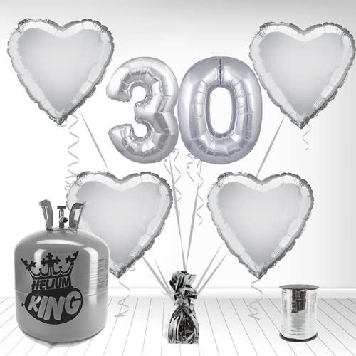 Paquete De Globos Con Helio Feliz 30mo Aniversario