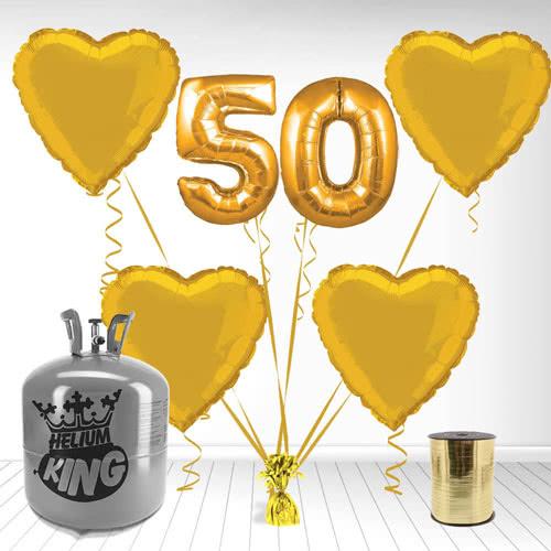 Feliz 50 Aniversario Supershape Paquete de Gas Helio