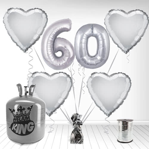 Paquete De Globos Con Helio Feliz 60mo Aniversario