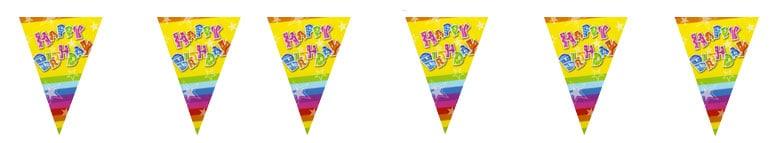 Bandera Triangular de Feliz Cumpleaños - 366 cm