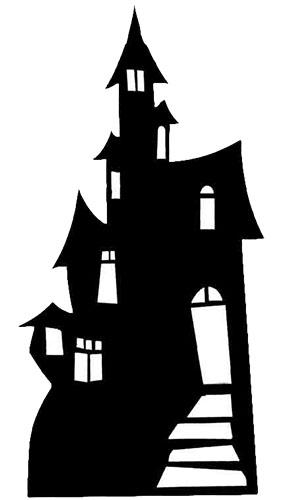 Casa Embrujada - Figura de cartón a tamaño real