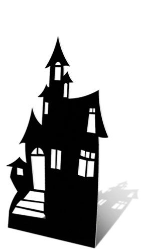 Casa Embrujada Pequeño 98cm Tamaño real Figura de cartón