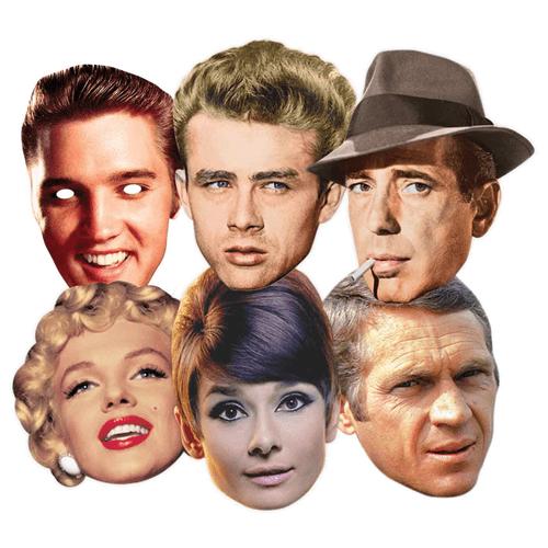 Celebridades de Hollywood Partido Máscara - Pack de 6