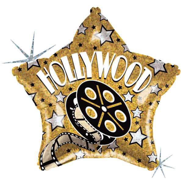 Globo Foil Holográfico Hollywood Temático 48cm