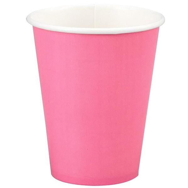 Vaso Desechable Para Fiestas Rosa Caliente 266ml - Unidad
