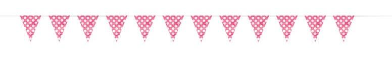 Rosa Caliente Puntos Decorativos Banderín