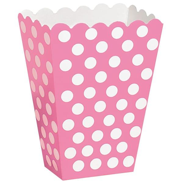 Rosa Caliente Puntos Decorativos Cajas de Tratar