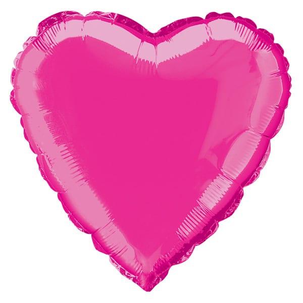 Globo Foil Corazón Rosa Caliente 45 cm