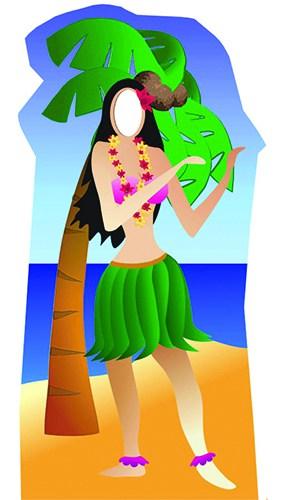Chica de Hula Tamaño real figura de cartón Standin