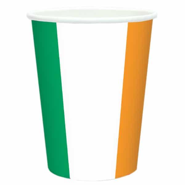 Irlanda Del Tema De La Bandera Taza De Papel 266 Ml