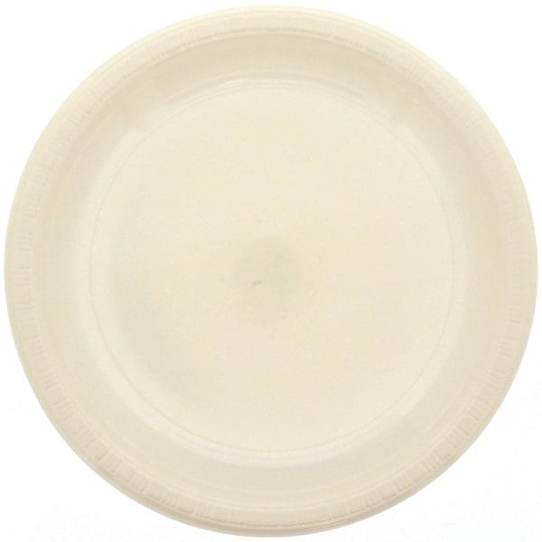 Plato De Plástico Color Marfil 23cm - Unidad