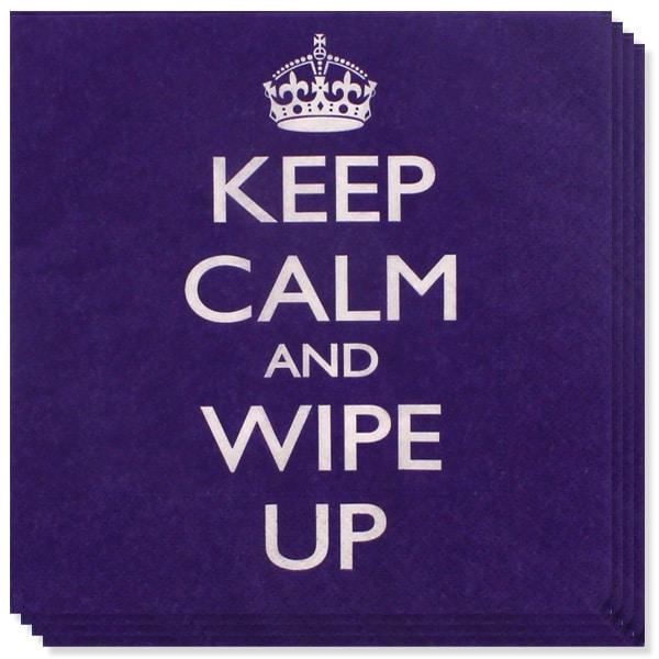 Keep Calm Tema Servilletas de Papel - Pack de 20