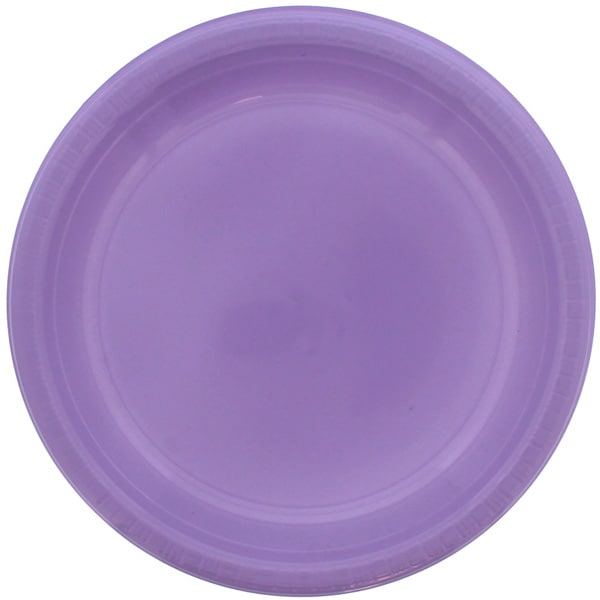 Plato De Plástico Lila 23cm - Unidad