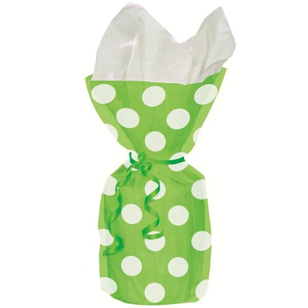 Verde Lima Puntos Decorativos Bolsas de Regalo
