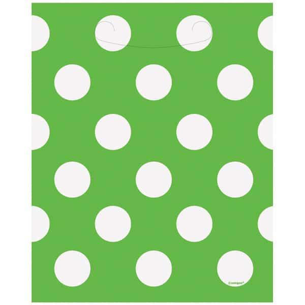 Cal Verde Puntos Decorativos Botín Bolsas - Paquete De 8