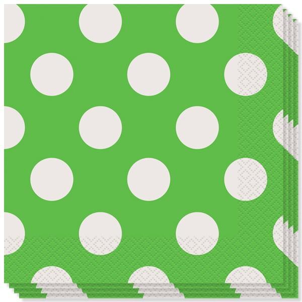 Verde Lima Puntos Decorativos Servilletas Almuerzo